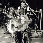 Cyndi Lauper and Sandy Gennaro onstage during The Fun Tour
